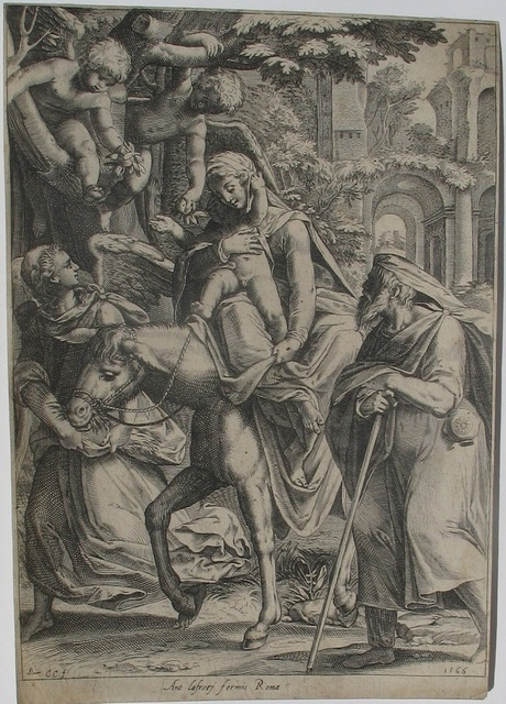 , 'The Flight into Egypt, after Muziano or Zuccaro, first version,' 1566, Jan Johnson Old Master & Modern Prints