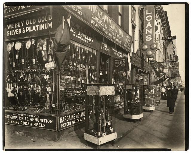 , 'Pawn Shop 48 3rd Avenue, Manhattan.,' 1937, The Old Print Shop, Inc.
