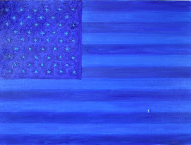 , 'Blue Flag,' 2016, Ashok Jain Gallery