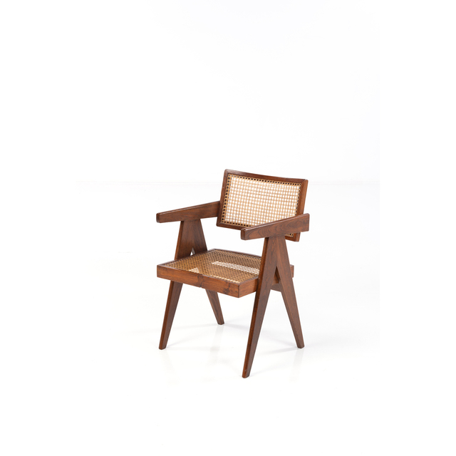Pierre Jeanneret, 'Office Cane Chair; Armchair', circa 1955-1956, PIASA