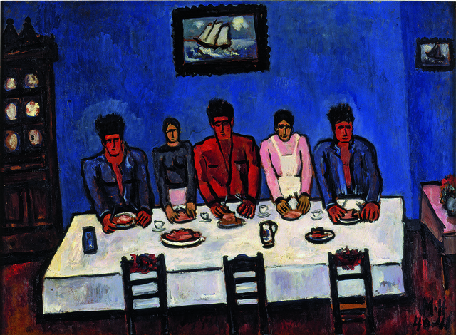 , 'Fishermen's Last Supper, Nova Scotia,' 1940-1941, American Federation of Arts