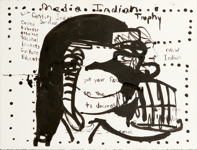 Jay Carrier, 'Media Indian', 2010, Drawing, Collage or other Work on Paper, Ink on Paper, Eleven Twenty Projects
