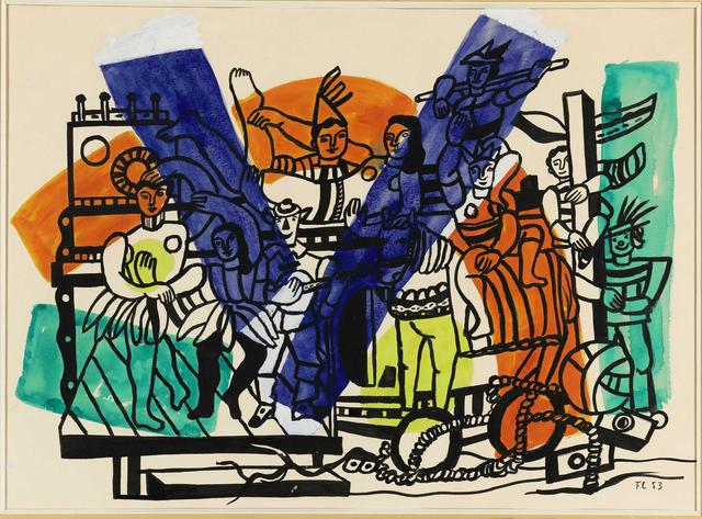 , 'Étude pour 'La grande parade',' 1953, Opera Gallery