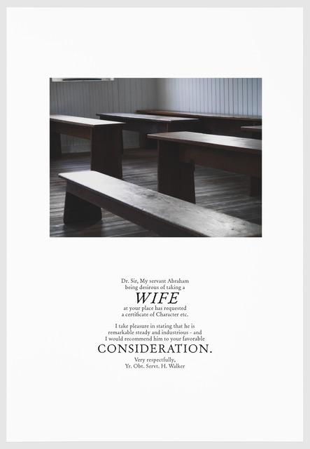, 'WIFE,' 2016, Arnika Dawkins Gallery