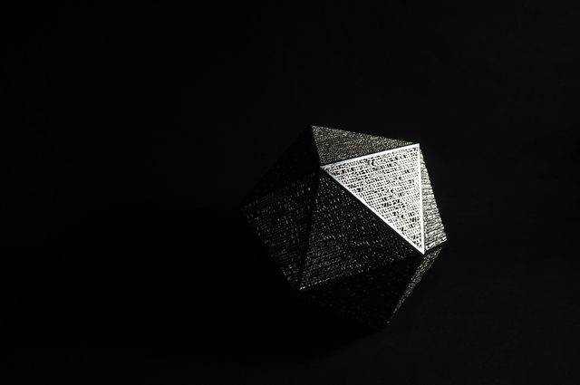 , 'Icosahedron,' 2014, Torch
