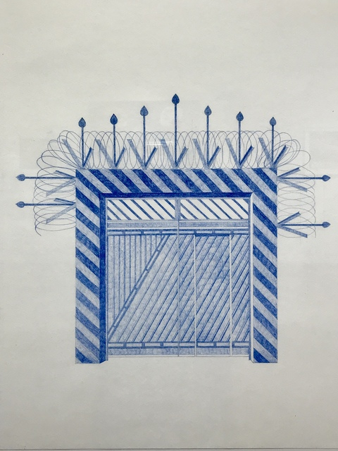 Seher Naveed, 'Gate 2 (High Gate Series)', 2018, Drawing, Collage or other Work on Paper, Pencil on paper, Aicon Gallery