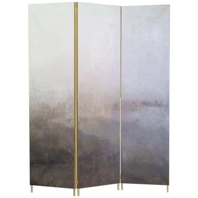 Jan Garncarek, 'Grey Hand-Painted Brass Screen by Jan Garncarek', 2017, Design/Decorative Art, Brass, Galerie Philia