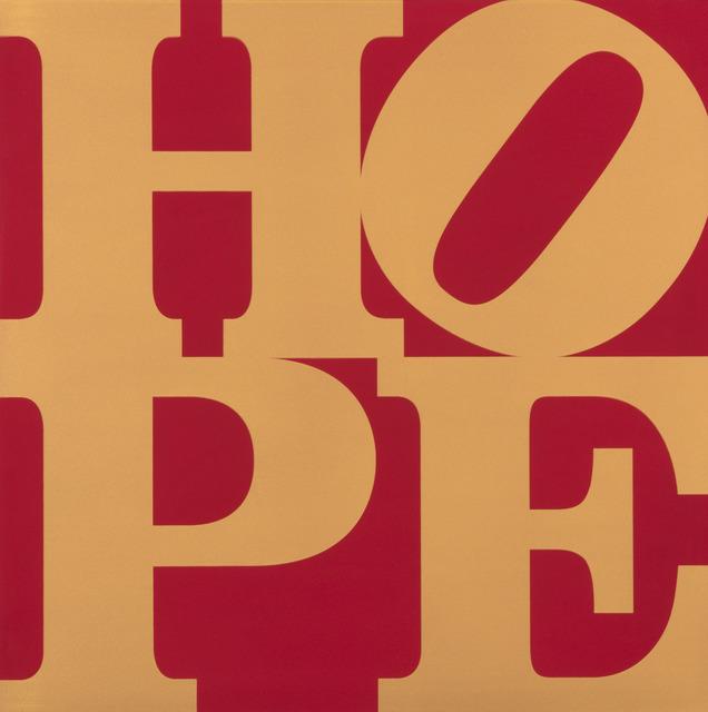 , 'Metal HOPE (Gold/Red),' 2012, Contini Art UK