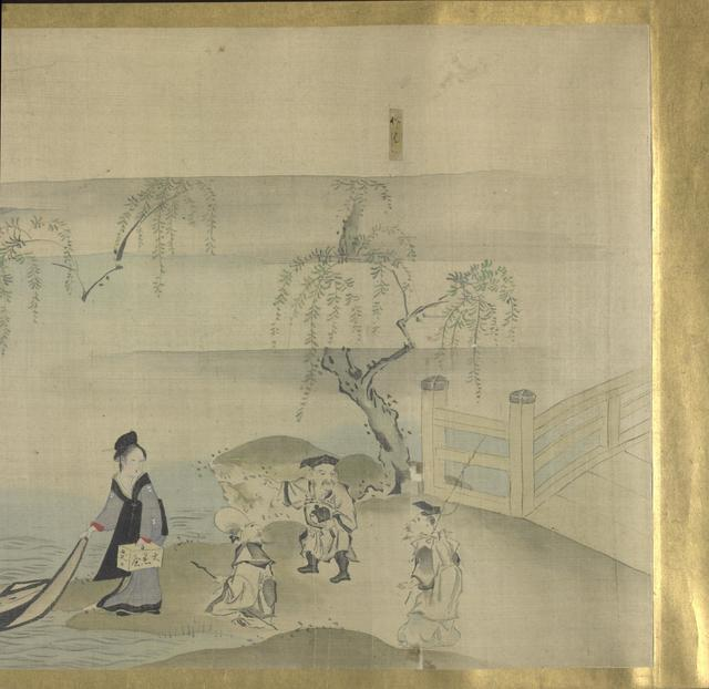 Hosoda Eishi, 'Three Gods of Good fortune on A Pleasure Outing', about 1800-1829, Painting, Ink and light colors on paper, Indianapolis Museum of Art at Newfields