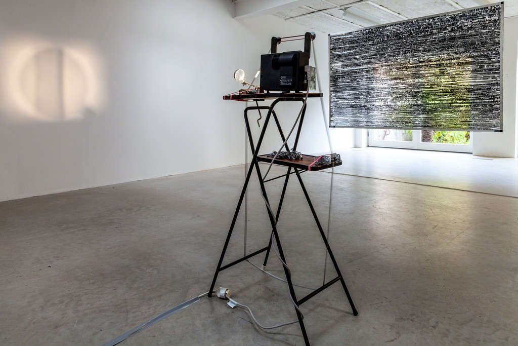 "Jens Standke, exhibition view: (foreground) ""Visual Loops"", 2016 