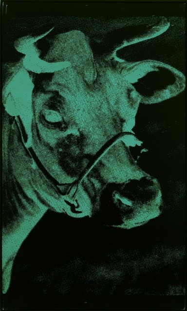 Andy Warhol, 'One Green Cow', 1979, Painting, Acrylic and silkscreen on canvas, Gagosian