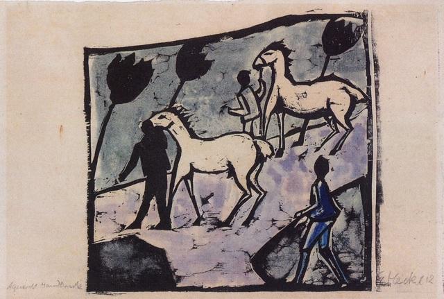 , 'Weisse Pferde (White Horses),' 1912, Alice Adam Ltd.