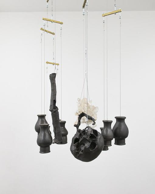 , 'Natureza-Morta, com cabeça, vasos, galho e cristal [Still Life, with head, vases, branch and crystal ],' 2018, Casa Triângulo