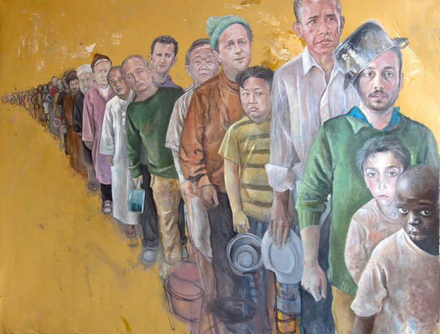 , 'The Queue,' 2016, Ayyam Gallery