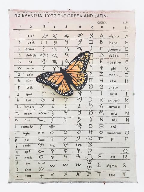 , 'ha Ɛ Є E epsilon (Mariposa),' 2018, Fisher Parrish Gallery