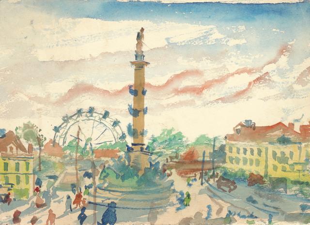 , 'At Wiener Praterstern,' after 1940, Galerie Kovacek & Zetter