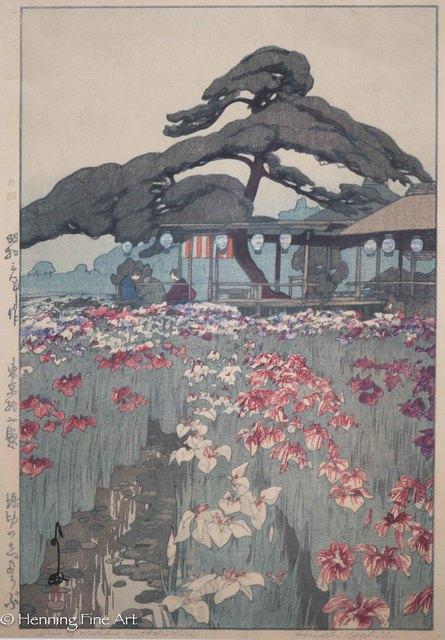 Yoshida Hiroshi, 'Iris Garden in Horikiri', 1928, Henning Fine Art