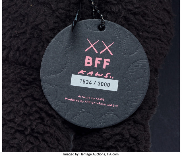 KAWS, 'BFF Companion (Black)', 2016, Other, Polyester, Heritage Auctions