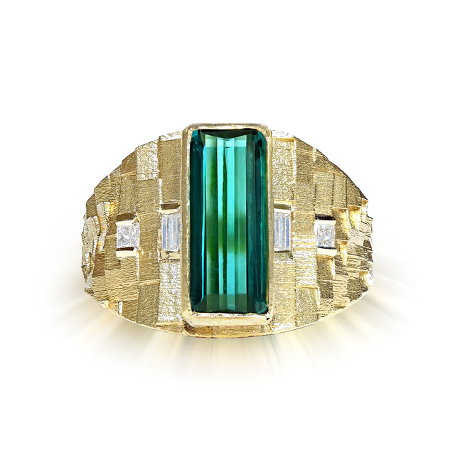 , 'Green Tourmaline Diamond 3D Ring,' 2016, Szor Collections