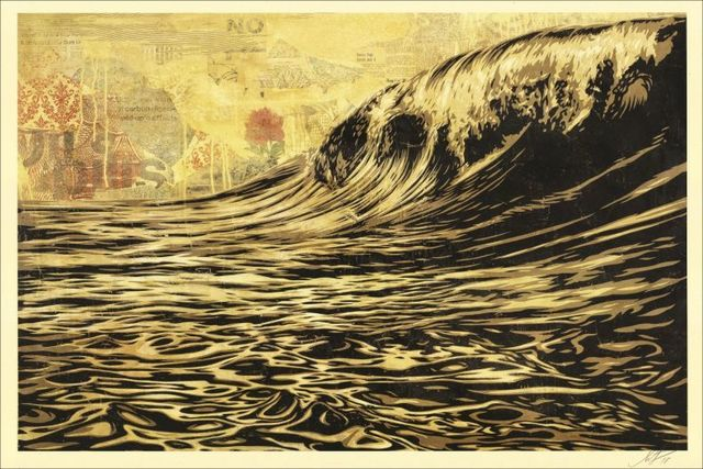 Shepard Fairey (OBEY), 'Dark wave', 2017, NextStreet Gallery