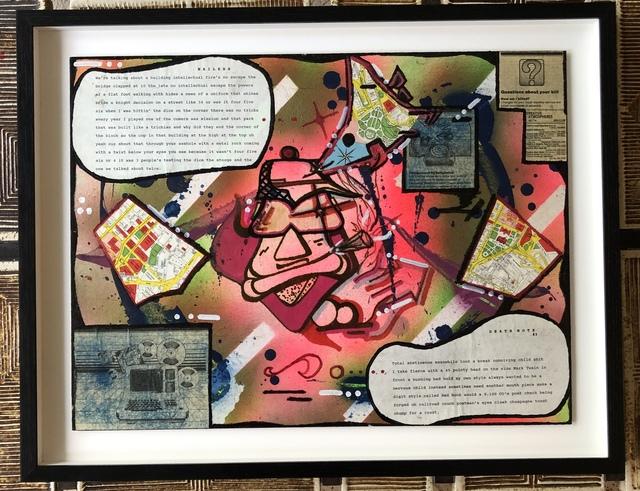 "Rammellzee, 'Untitled ""Scoobie smoker""', 1988, Galerie Laurent Dubois"
