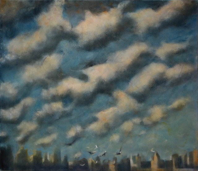 , 'Sun and Clouds over the City I,' 2015, Marlborough London