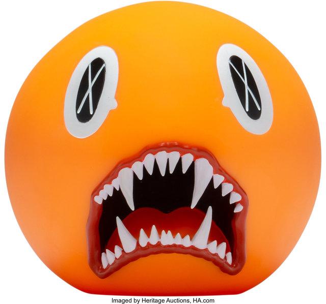 KAWS, 'Cat Teeth Bank (Orange)', 2007, Sculpture, Painted cast vinyl, Heritage Auctions
