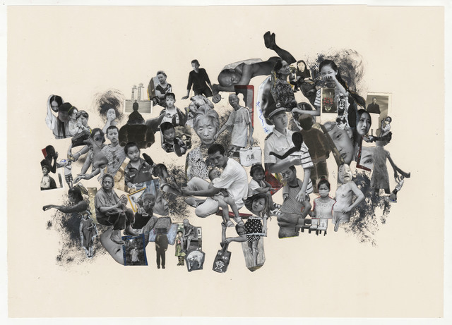Jim Goldberg, 'Chorus', 2018, Drawing, Collage or other Work on Paper, Unique Collage, Magnum Photos