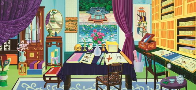 , 'Looking at Buyongjeong from Gyujanggak,' 2014, Savina Museum of Contemporary Art