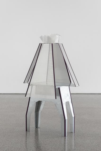 Diane Simpson, 'Peplum IV', 2015, Sculpture, Aluminium, galvanized steel, rivets, enamel, Galerie Greta Meert
