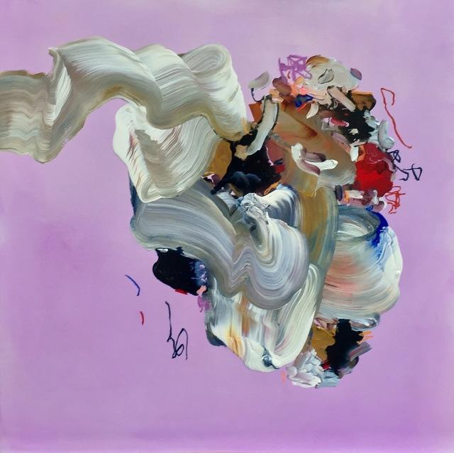 "Janna Watson, 'Purple ""Circle""', 2021, Painting, Mixed media on panel, Bau-Xi Gallery"