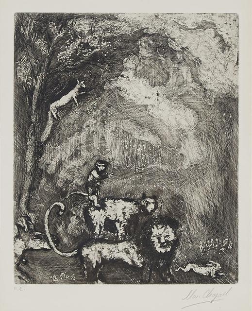 Marc Chagall, 'Le Lion S'En Allant En Guerre (From Les Fables De La Fontaine, Volume Ii', Waddington's