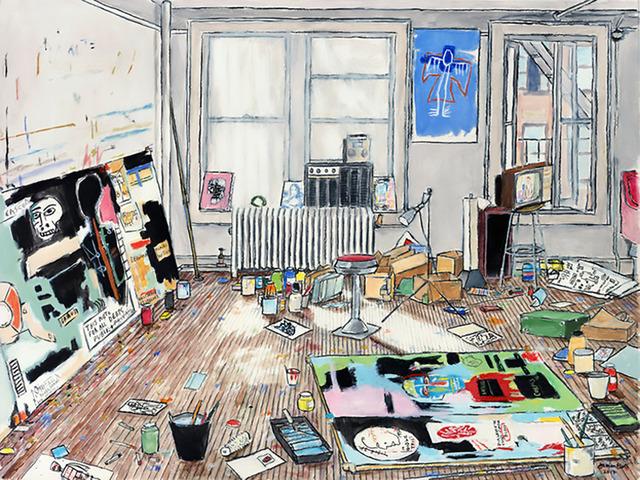 , 'Basquiat's Studio (Crosby St/New York, 1983),' 2016, Serena Morton