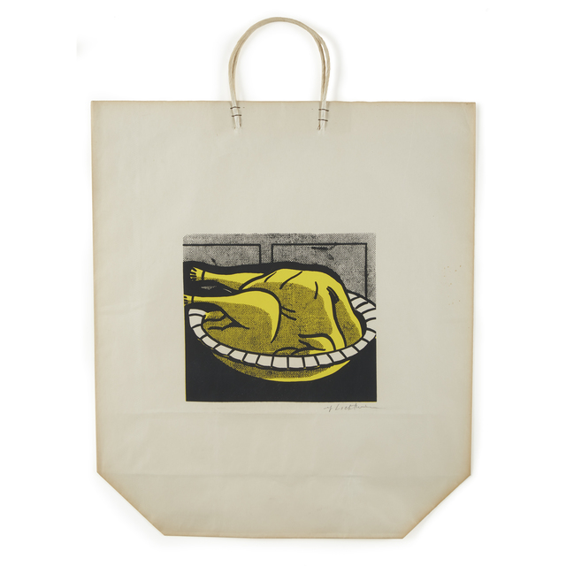 Roy Lichtenstein, 'Turkey Shopping Bag', 1964, Print, Color screenprint on paper bag with handles, Freeman's