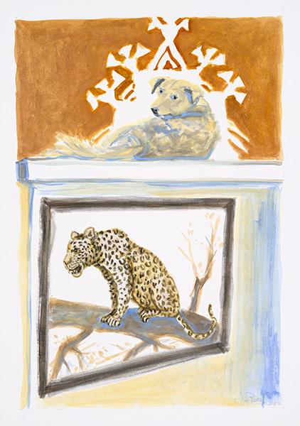 , 'Natives - Pariah Dog & Leopard, Rajasthan,' 2016, MARS