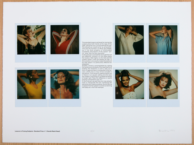 , 'Lessons in Posing Subject: Standard Pose #1 (Hands/Neck/Head),' 1982, Rhona Hoffman Gallery