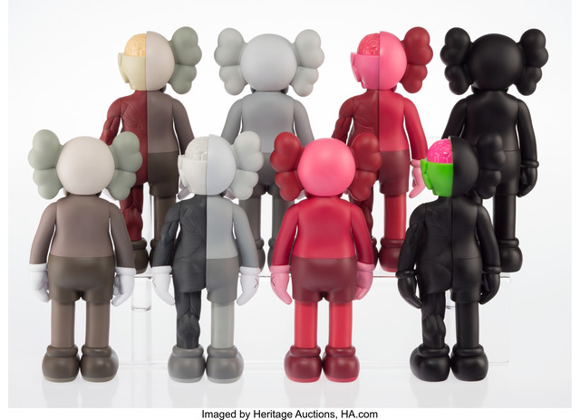 KAWS, 'Companion (Open Edition) (eight works)', 2016, Other, Painted cast vinyl, Heritage Auctions