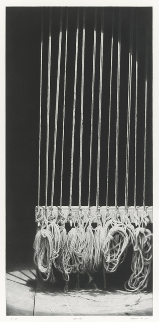 Craig McPherson, 'Hemp Lines I ', 2011-2012, Drawing, Collage or other Work on Paper, Drypoint and mezzotint, Forum Gallery