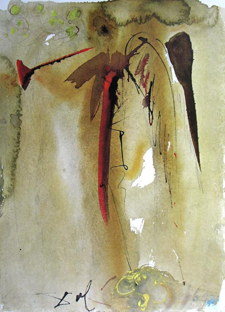 Salvador Dalí, 'The Voice Of One Crying Out', 1967, Print, Original colored lithograph on heavy rag paper, Baterbys