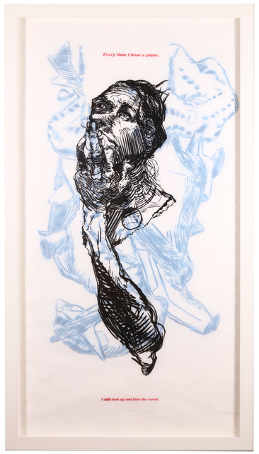 Elbow Toe, 'Some Assembly Required', 2007, Drawing, Collage or other Work on Paper, Two layered woodcut and stencil spray paint, Chiswick Auctions