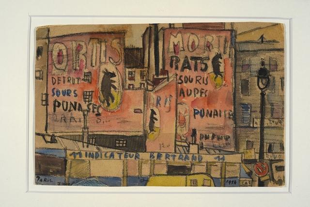 , 'Escena de París,' 1954, Galería de las Misiones