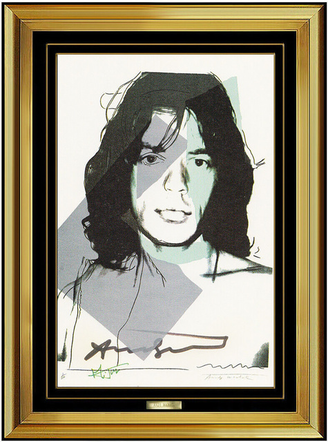 Andy Warhol Authentic Mick Jagger Portrait Lithograph
