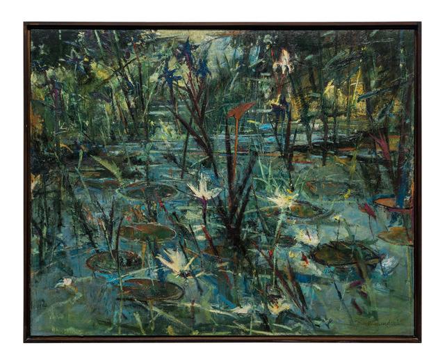 John Alexander, 'Blue Irises (on my Pond)', 1984, McClain Gallery