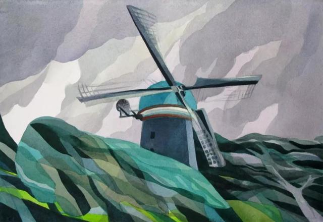 , 'Golden Gate Park Windmill,' 2013, STUDIO Gallery