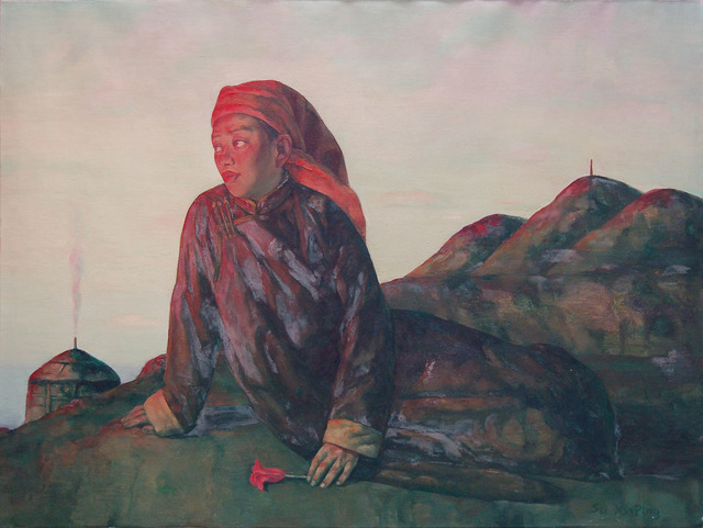 Su Xinping 苏新平, 'Looking Into the Distance From a High Plac  在高处眺望', 2008, Painting, Oil on Canvas, Linda Gallery
