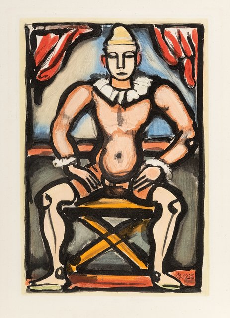 Georges Rouault, 'Enfant de la balle, from Cirque de l'étoile Filante', 1935, Print, Aquatint in colors on Montval laid paper, Heritage Auctions