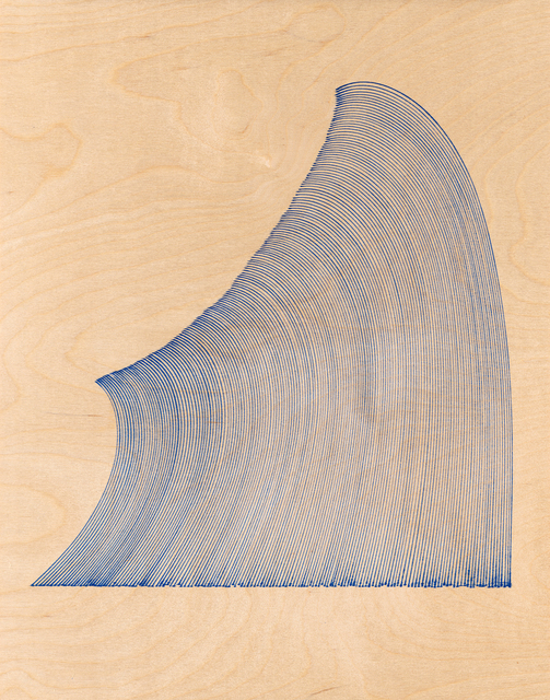 , 'Curved Lines (after Hokusai),' 2014, MKG127