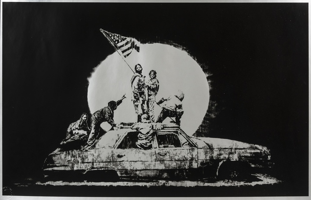 Banksy, 'Silver Flags', 2006, Print, Screenprint in colours, Forum Auctions