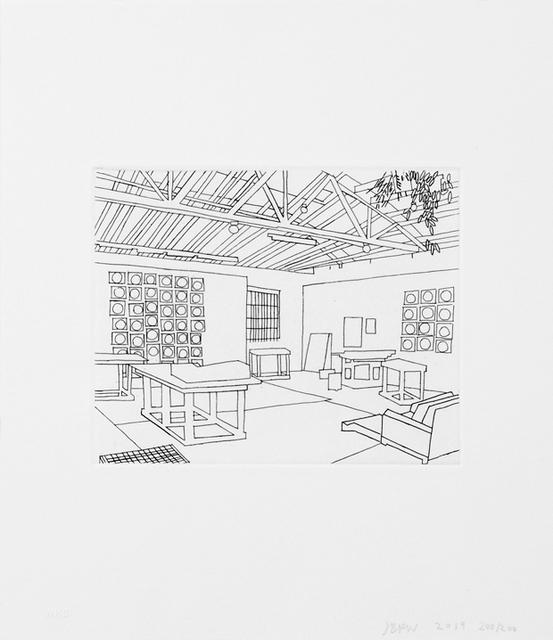Jonas Wood, 'Bball Studio ', 2019, Kumi Contemporary / Verso Contemporary