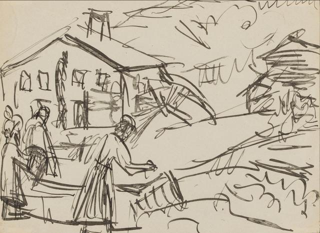 , 'Village Center with Fountain, Stafelalp,' 1919-1920, Galerie St. Etienne